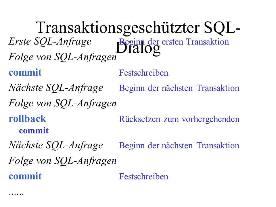 Transaktionsgeschützter SQL-Dialog