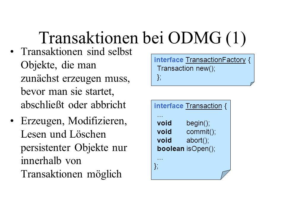 Transaktionen bei ODMG (1)