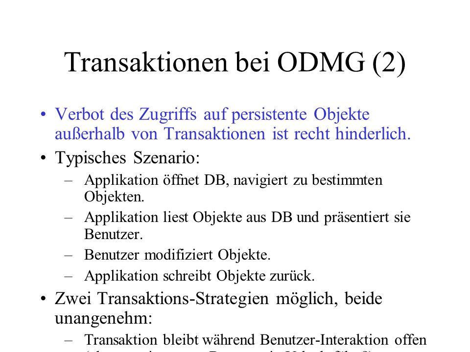 Transaktionen bei ODMG (2)