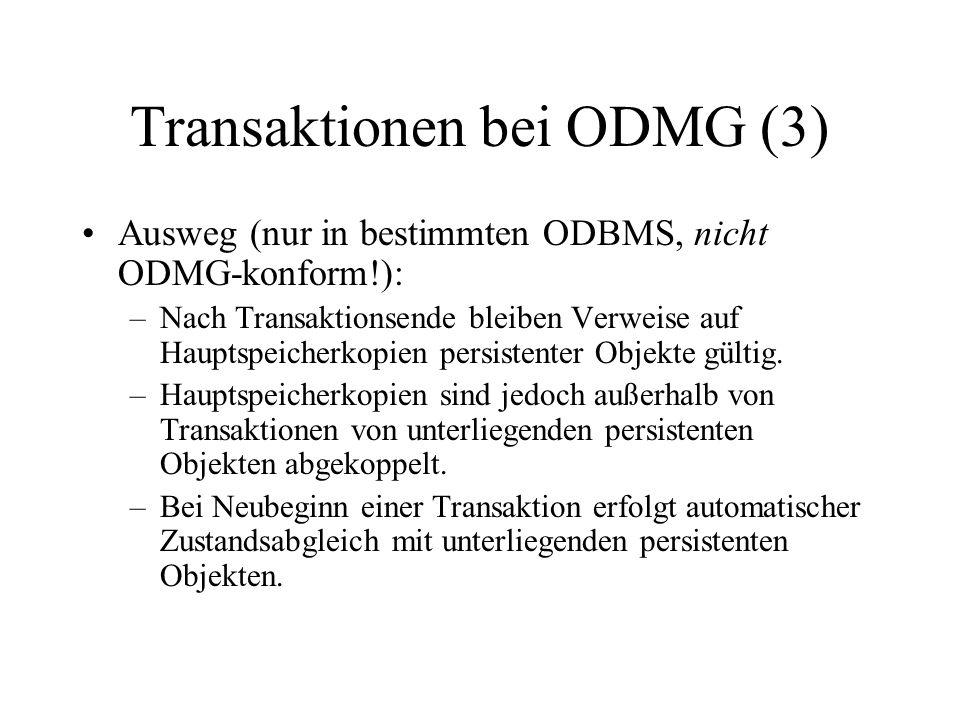 Transaktionen bei ODMG (3)