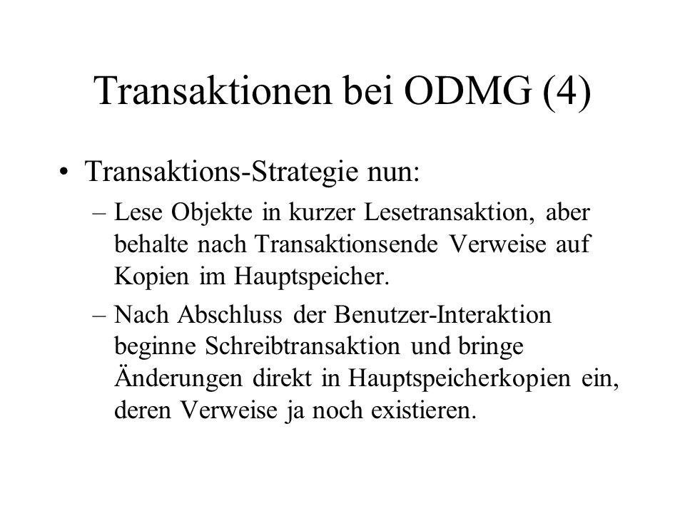 Transaktionen bei ODMG (4)