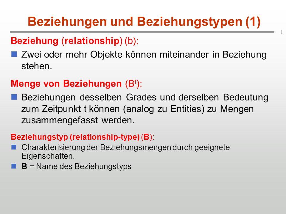 Beziehungen und Beziehungstypen (1)