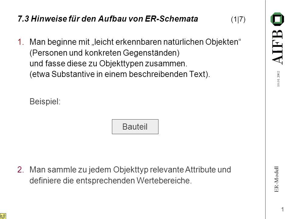 7.3 Hinweise für den Aufbau von ER-Schemata (1|7)