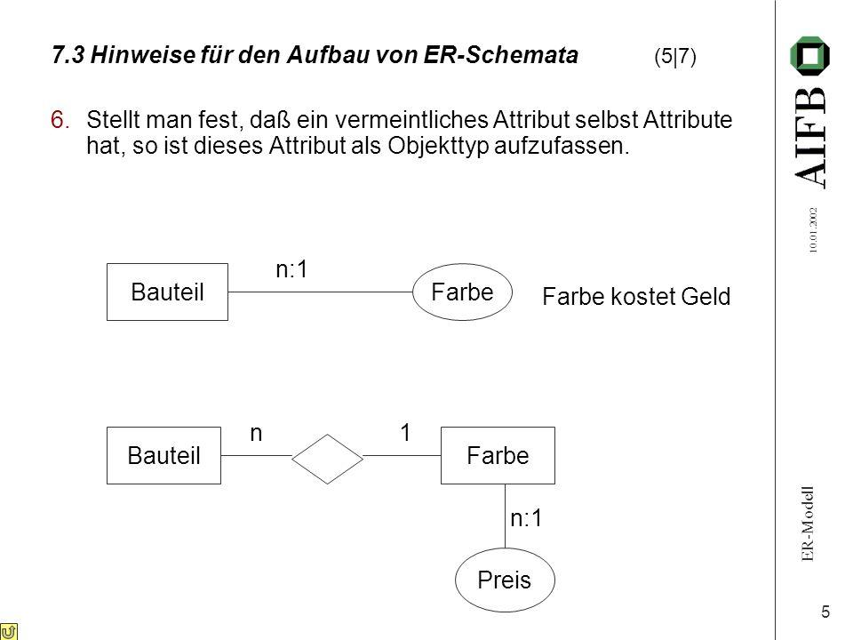 7.3 Hinweise für den Aufbau von ER-Schemata (5|7)