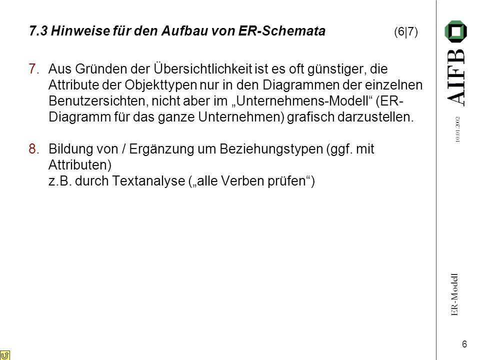 7.3 Hinweise für den Aufbau von ER-Schemata (6|7)