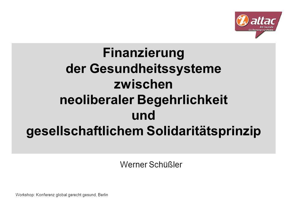 Finanzierung der Gesundheitssysteme