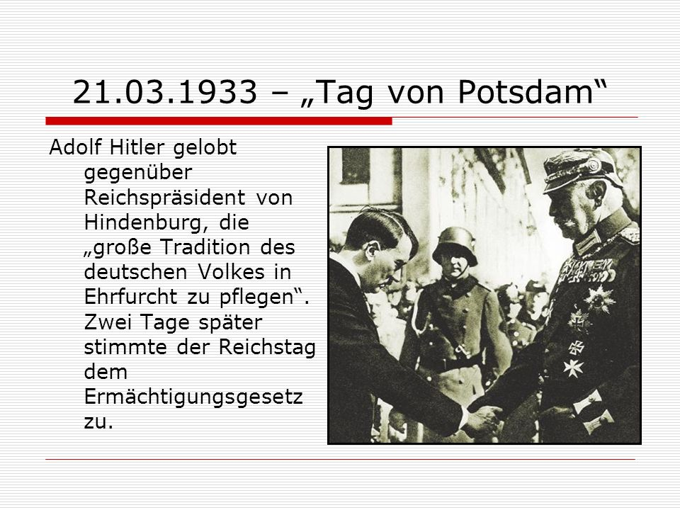 "21.03.1933 – ""Tag von Potsdam"