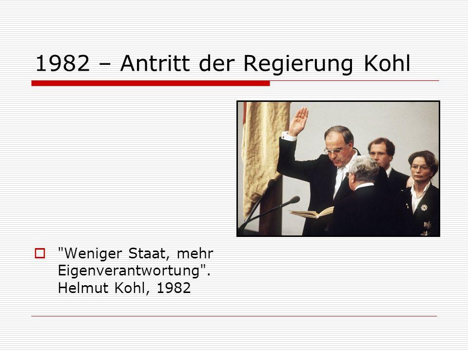 1982 – Antritt der Regierung Kohl