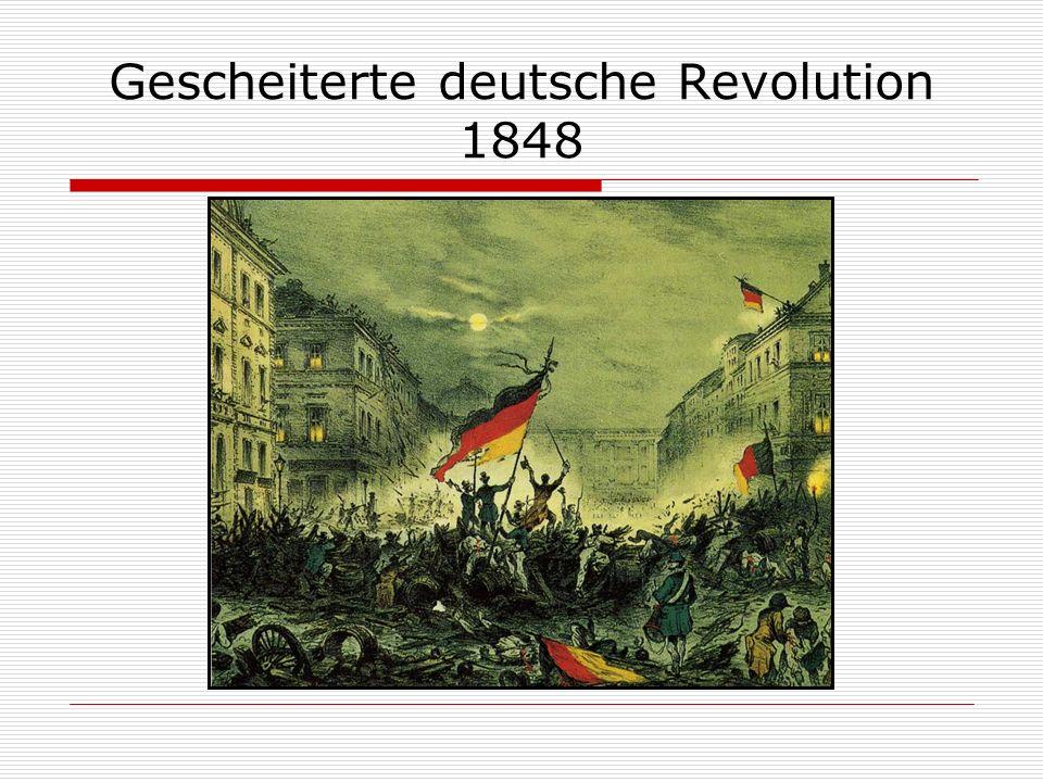 Gescheiterte deutsche Revolution 1848