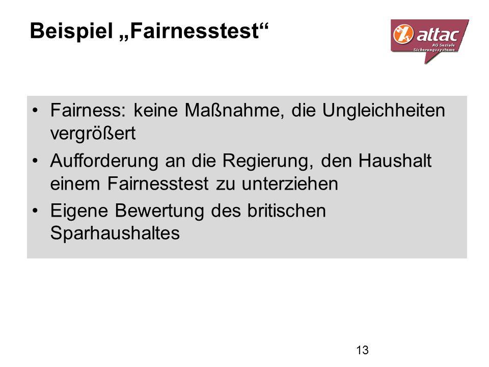 """Beispiel """"Fairnesstest"""