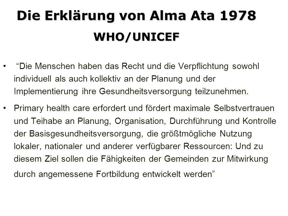 Die Erklärung von Alma Ata 1978