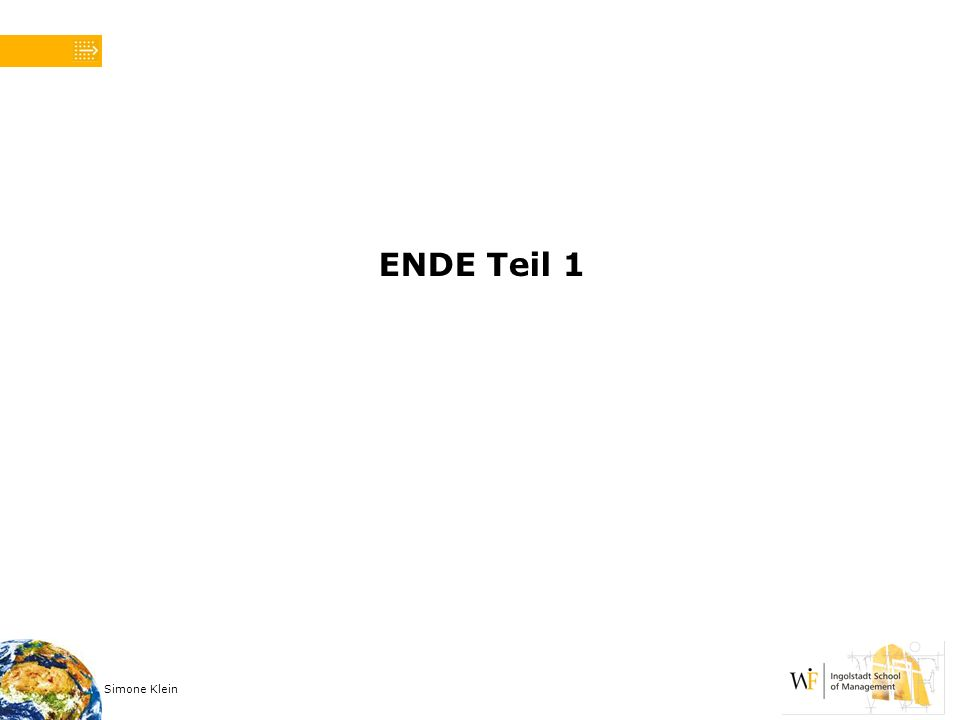 ENDE Teil 1 Simone Klein