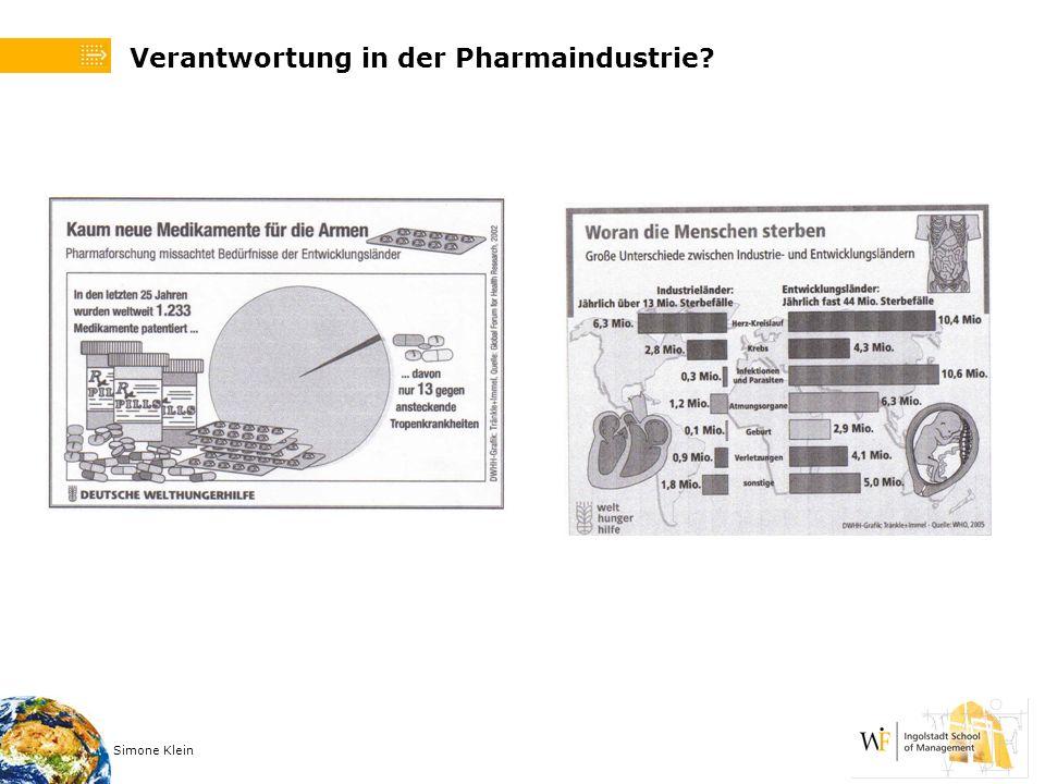 Verantwortung in der Pharmaindustrie