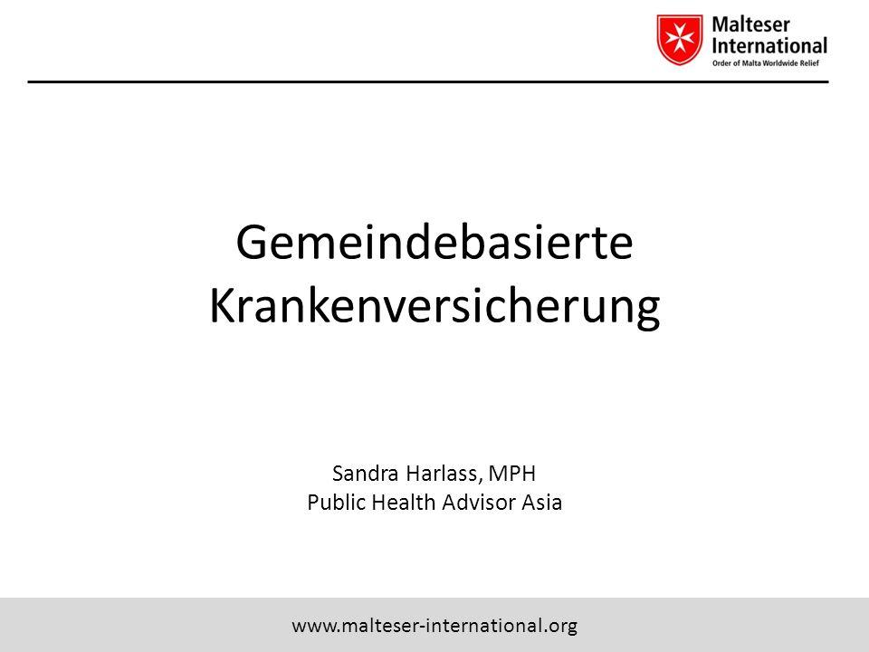 Gemeindebasierte Krankenversicherung