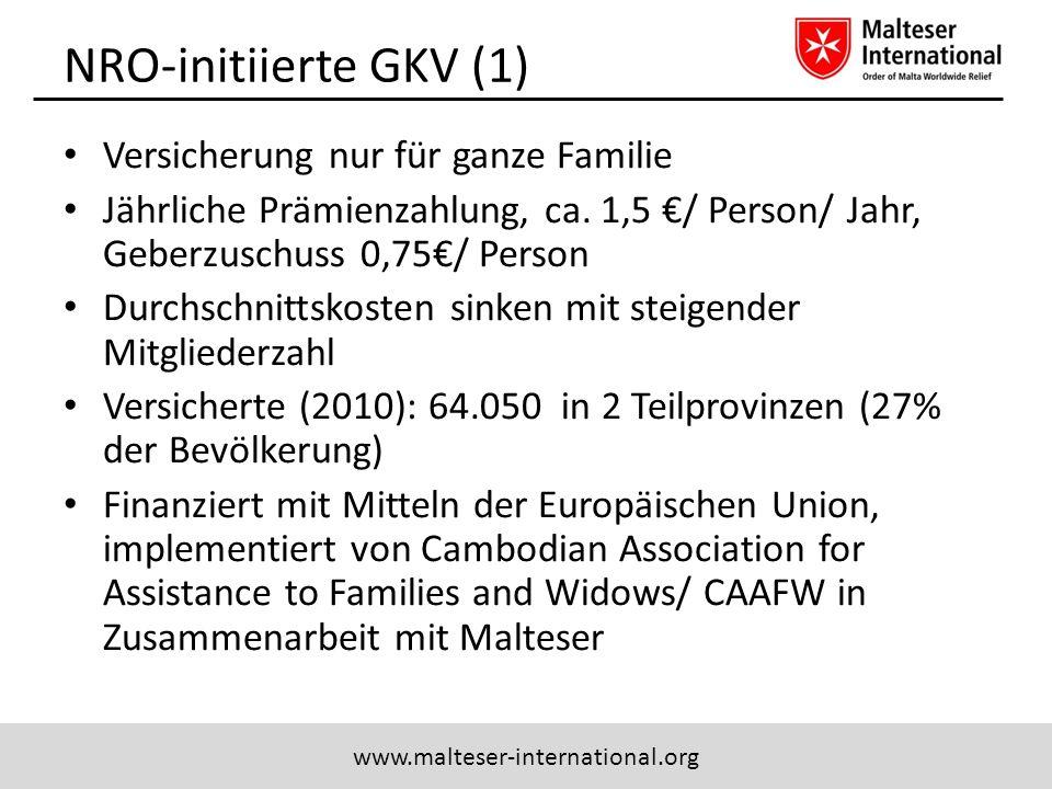 NRO-initiierte GKV (1) Versicherung nur für ganze Familie