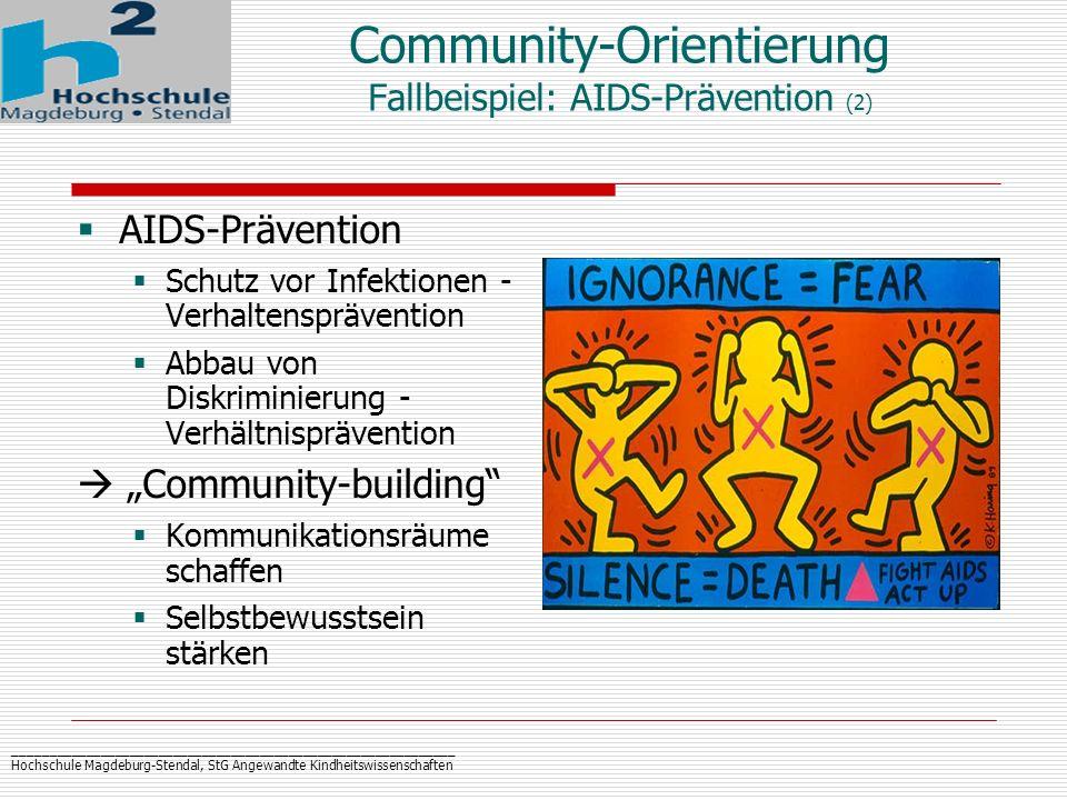 Community-Orientierung Fallbeispiel: AIDS-Prävention (2)
