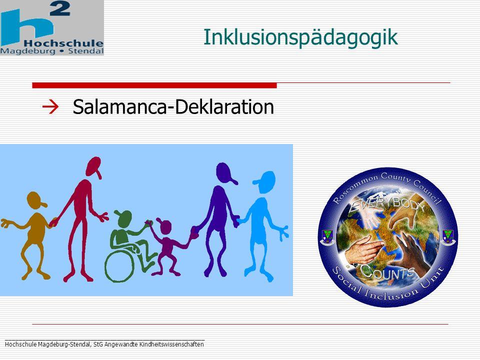 Inklusionspädagogik Salamanca-Deklaration