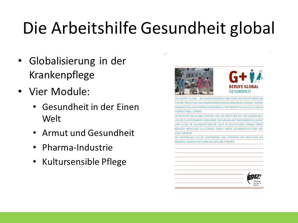 Die Arbeitshilfe Gesundheit global