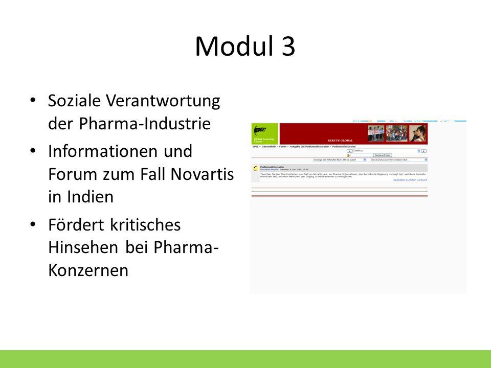 Modul 3 Soziale Verantwortung der Pharma-Industrie