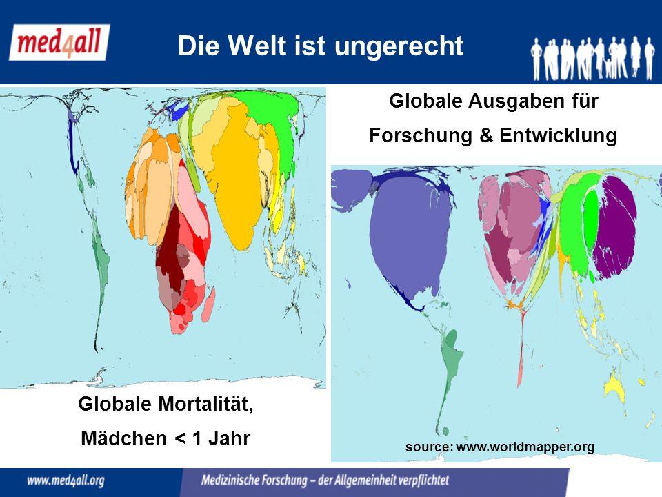 Forschung & Entwicklung source: www.worldmapper.org