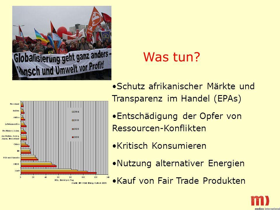 Was tun Schutz afrikanischer Märkte und Transparenz im Handel (EPAs)