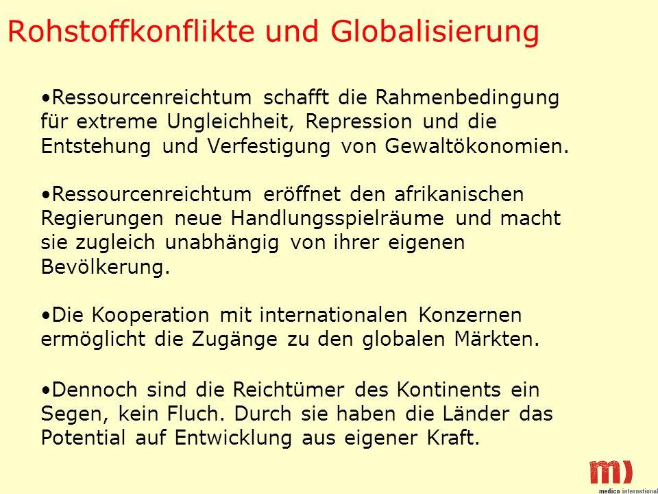 Rohstoffkonflikte und Globalisierung
