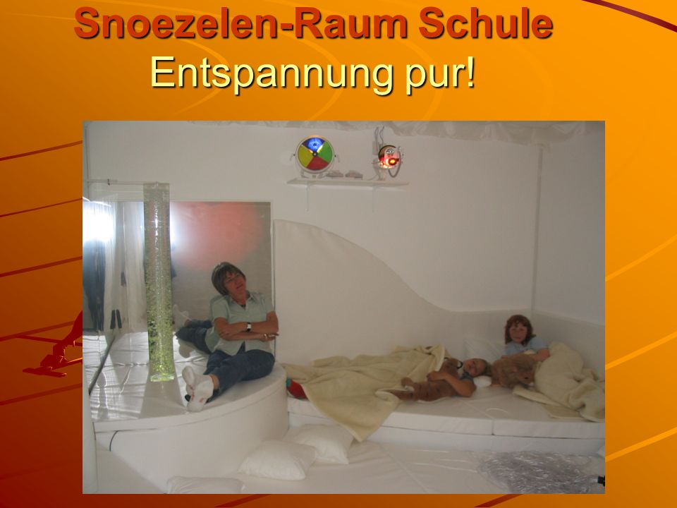 Snoezelen-Raum Schule Entspannung pur!