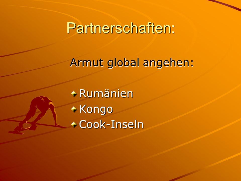 Partnerschaften: Armut global angehen: Rumänien Kongo Cook-Inseln