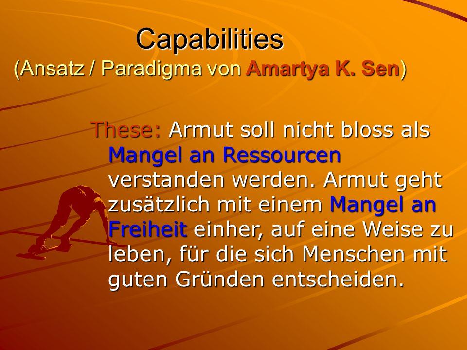 Capabilities (Ansatz / Paradigma von Amartya K. Sen)