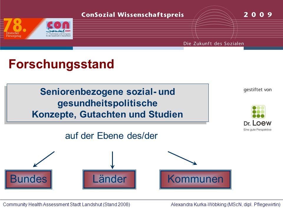 Forschungsstand Bundes Länder Kommunen Seniorenbezogene sozial- und