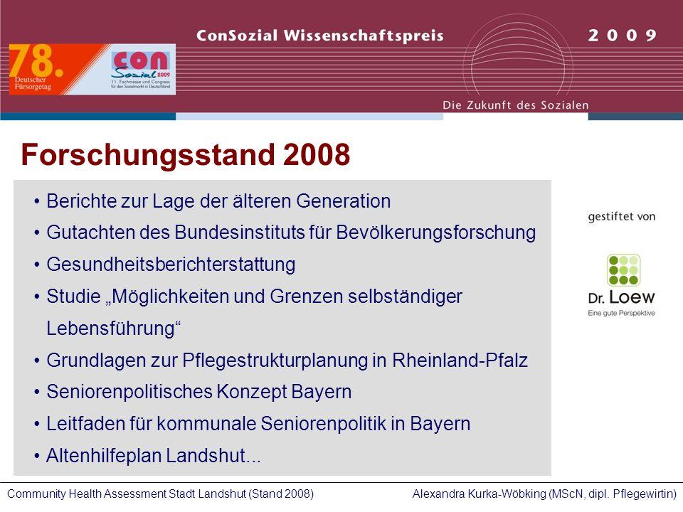 Forschungsstand 2008 Berichte zur Lage der älteren Generation