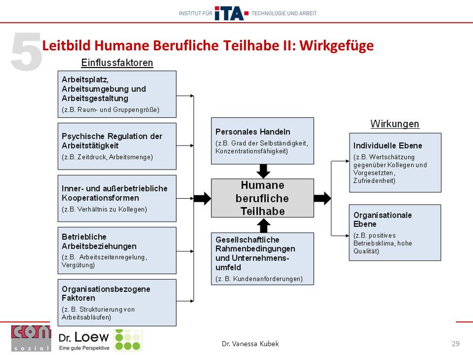 Leitbild Humane Berufliche Teilhabe II: Wirkgefüge