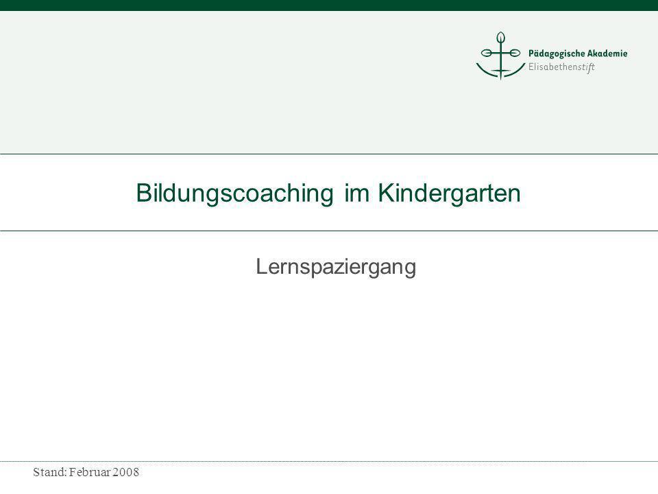Bildungscoaching im Kindergarten
