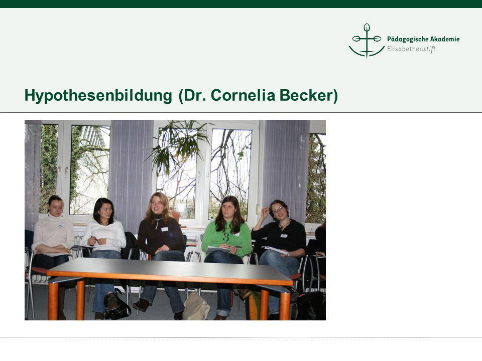 Hypothesenbildung (Dr. Cornelia Becker)