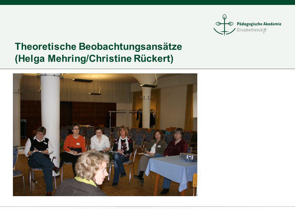 Theoretische Beobachtungsansätze (Helga Mehring/Christine Rückert)