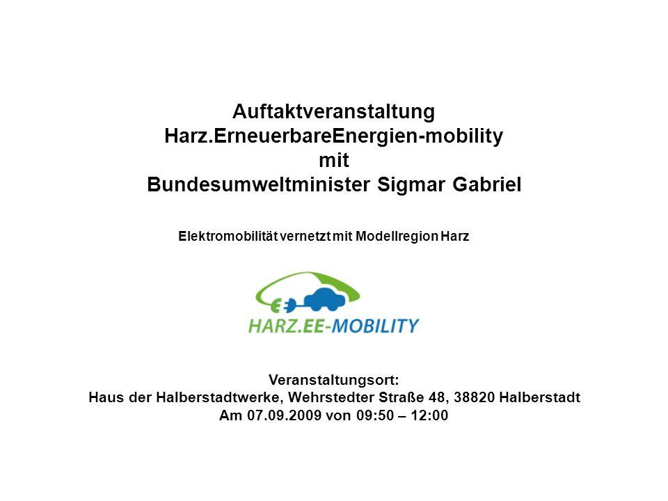 Elektromobilität vernetzt mit Modellregion Harz