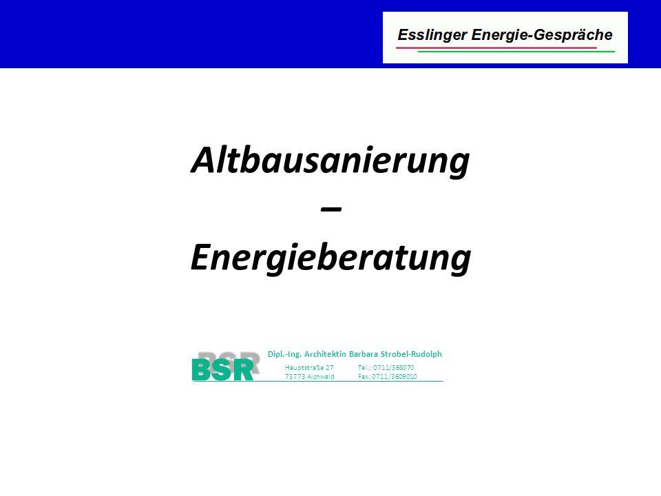 Altbausanierung – Energieberatung