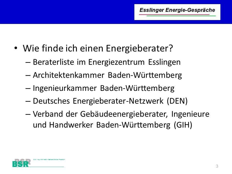 Wie finde ich einen Energieberater