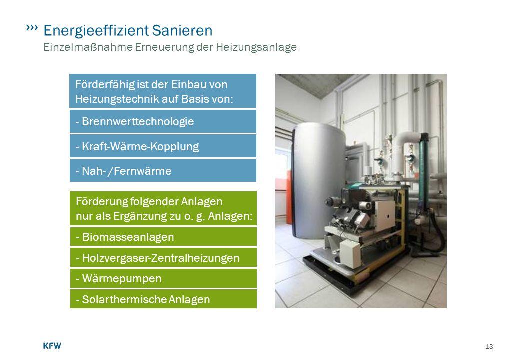 Energieeffizient Sanieren Einzelmaßnahme Erneuerung der Heizungsanlage