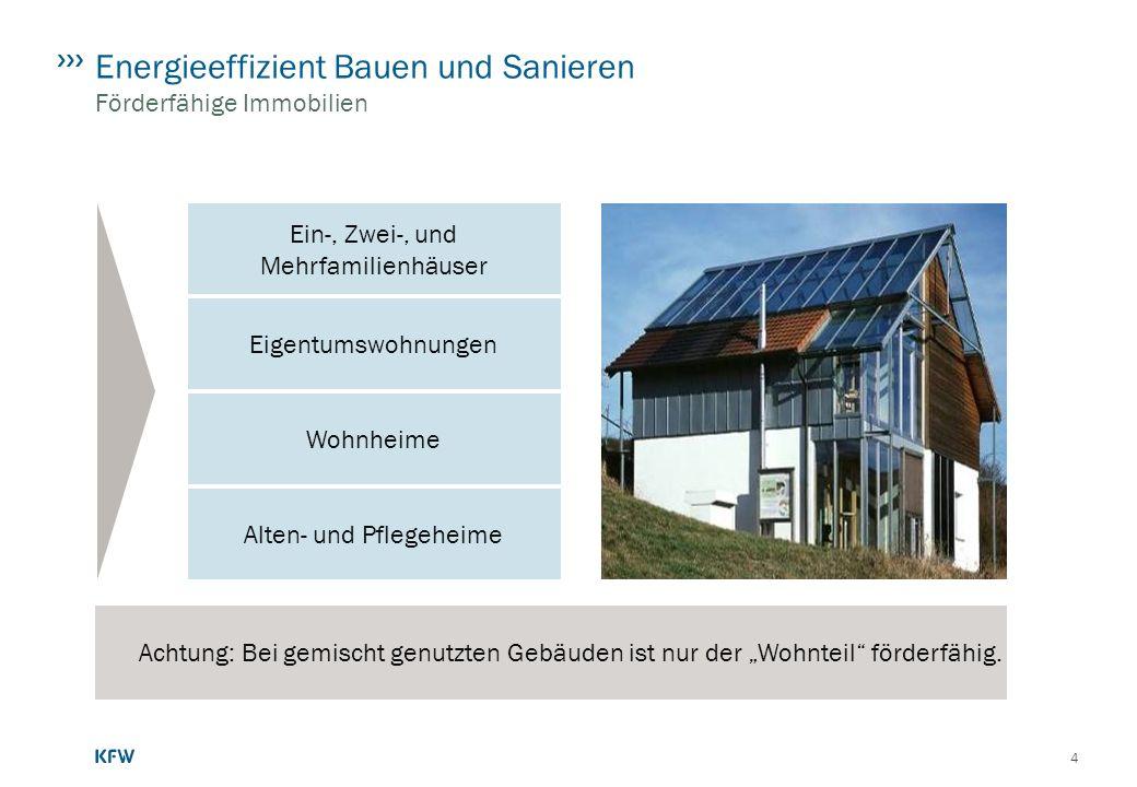 Energieeffizient Bauen und Sanieren Förderfähige Immobilien