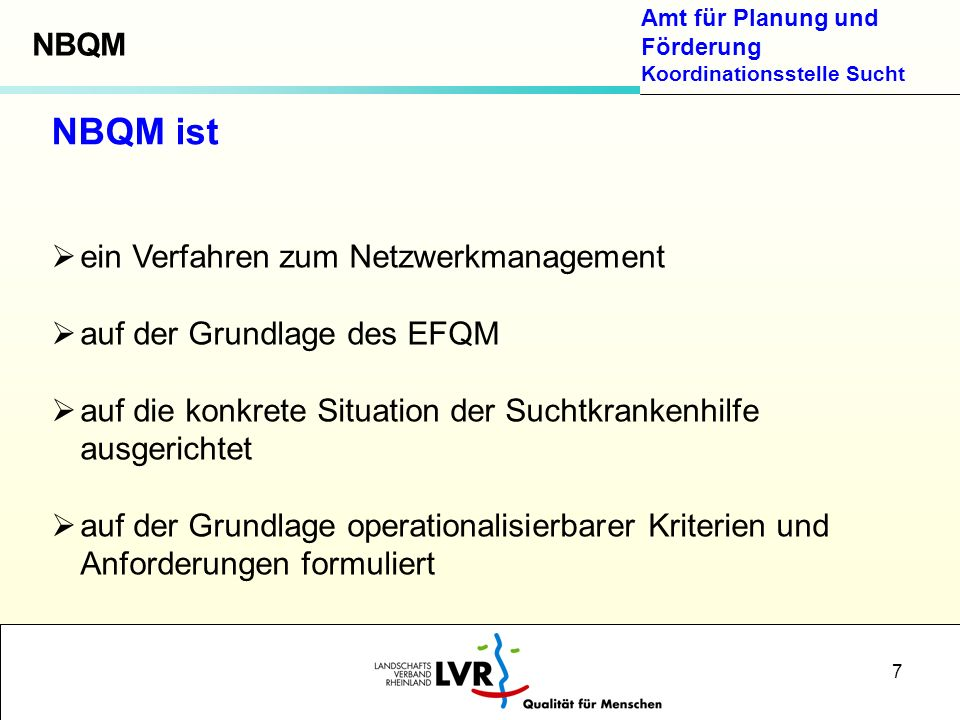NBQM ist NBQM ein Verfahren zum Netzwerkmanagement