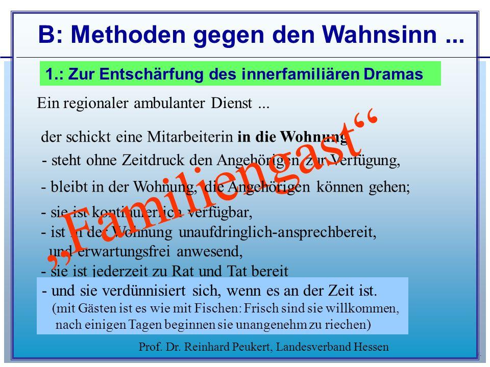 """""""Familiengast B: Methoden gegen den Wahnsinn ..."""