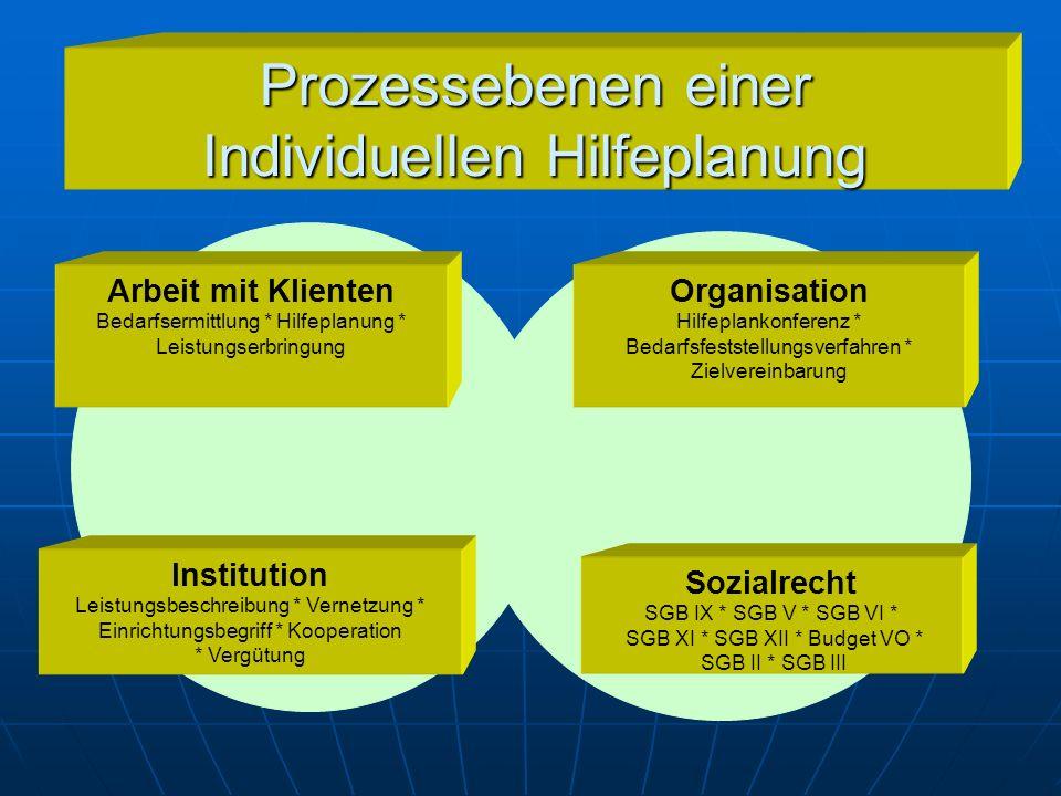 Prozessebenen einer Individuellen Hilfeplanung