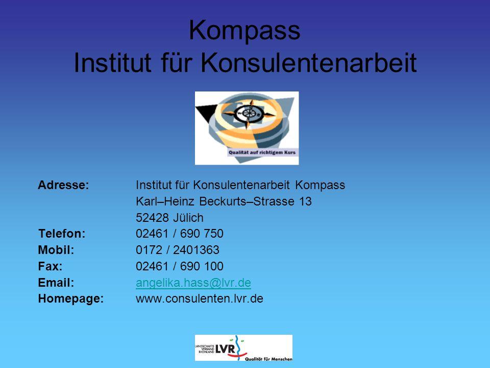 Adresse: Institut für Konsulentenarbeit Kompass