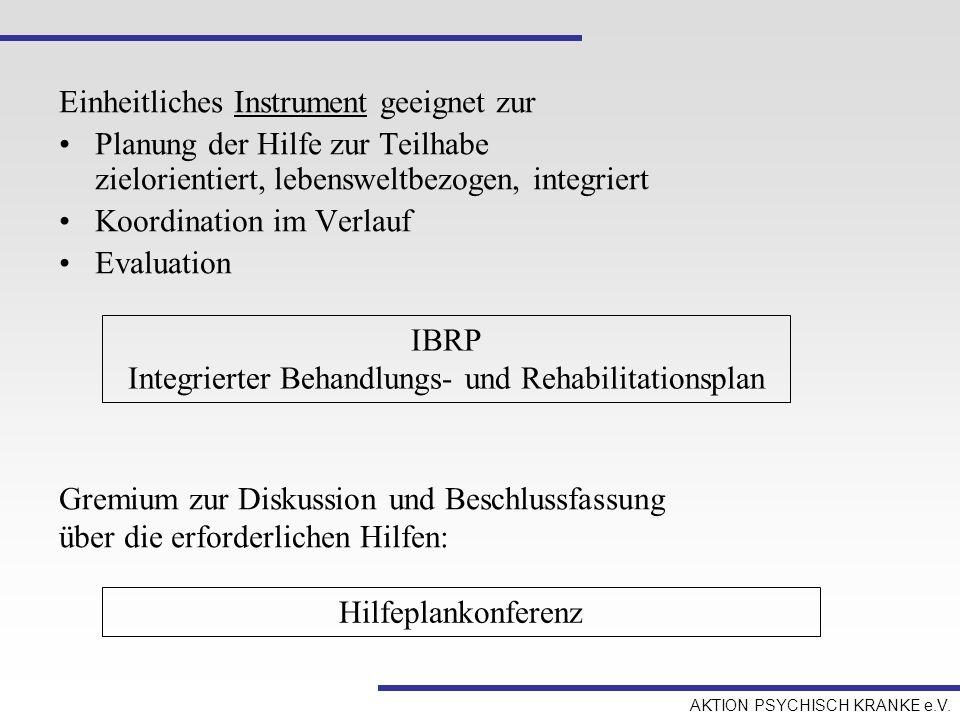 Integrierter Behandlungs- und Rehabilitationsplan