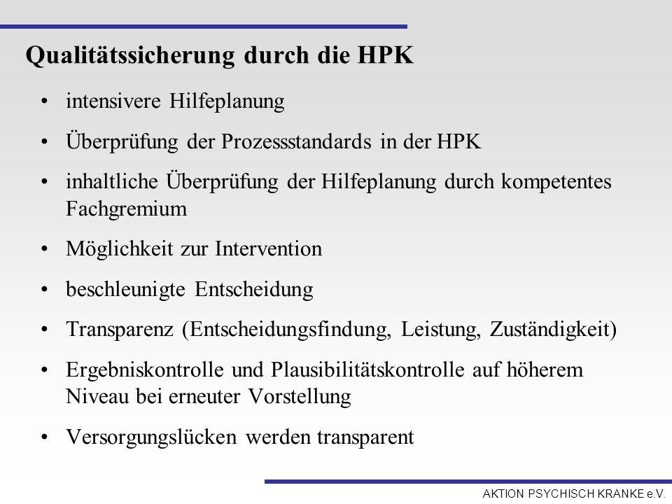 Qualitätssicherung durch die HPK