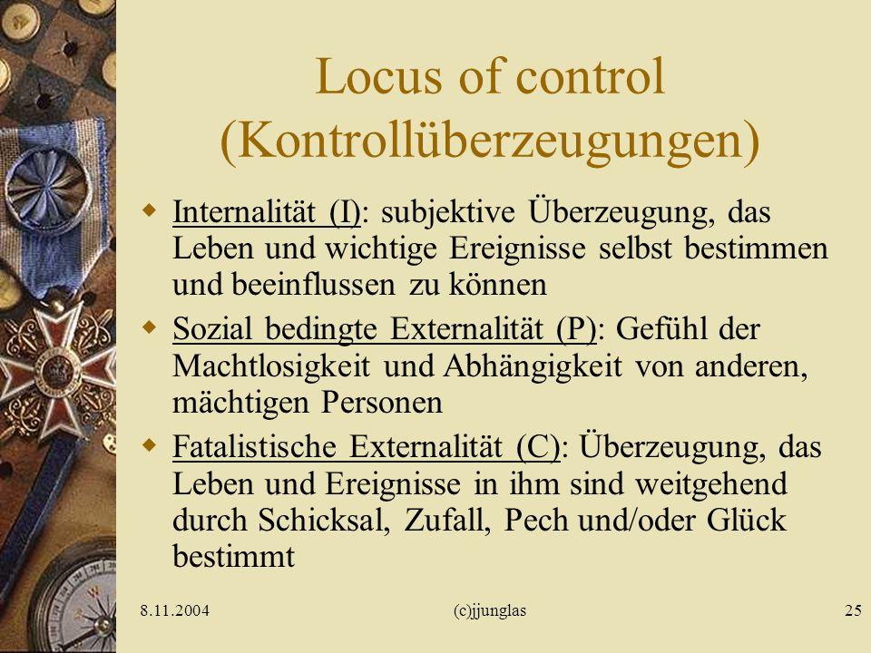 Locus of control (Kontrollüberzeugungen)