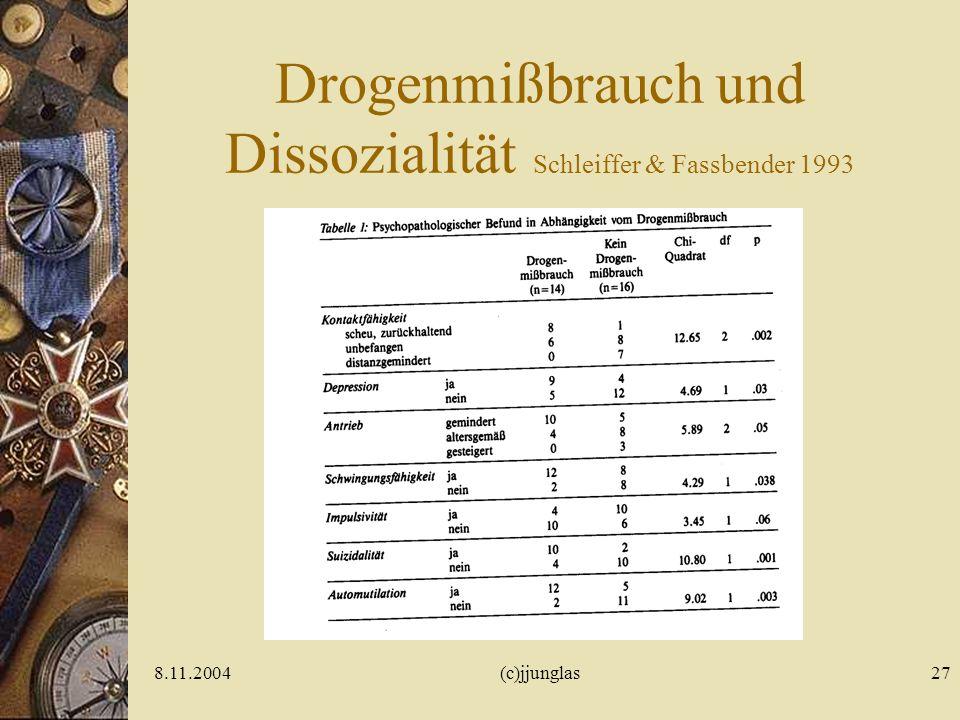 Drogenmißbrauch und Dissozialität Schleiffer & Fassbender 1993