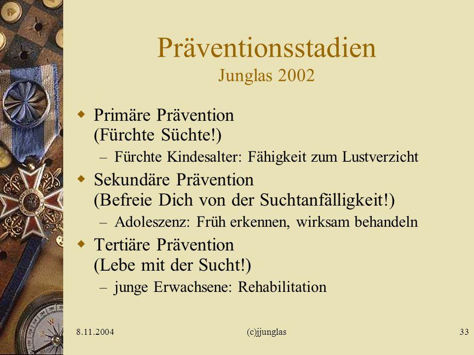 Präventionsstadien Junglas 2002