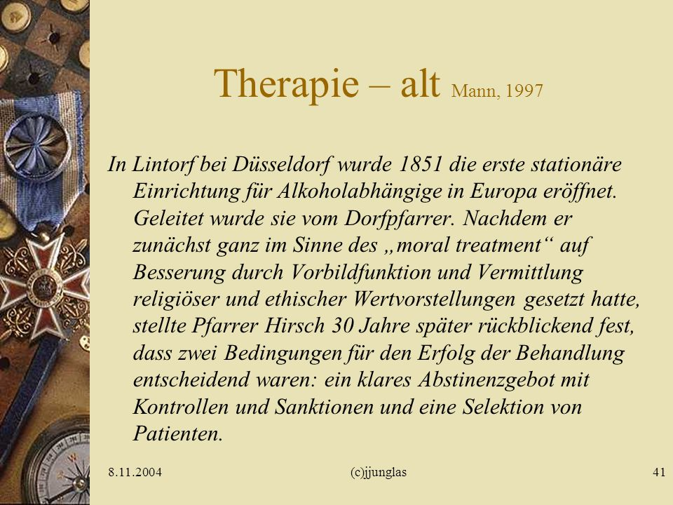 Therapie – alt Mann, 1997